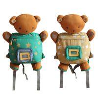 Wholesale Plush Bear Backpack - Cartoon Little Bear Canvas Plush Backpacks Cartoon soft Kids School Bags Toys Kindergarten Backpack Toys Children Storage Bags
