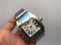 caja de reloj deportivo al por mayor-Hombres de lujo 100 XL de acero inoxidable Reloj 2813 Movimiento automático Caja de plata mecánica Hombres Deportes Corchete original Relojes