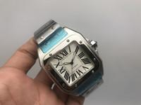xl relógios homens venda por atacado-Homens de luxo 100 XL relógio de aço inoxidável 2813 Movimento Automático Mecânico Caso de Prata Esportes dos homens Fecho Original relógios de Pulso