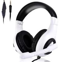 ps4 stereo kulaklık toptan satış-Üst satıcı takım oyun kulaklık PC XBOX ONE PS4 için Kulaklık Kulaklık Bilgisayar Kulaklık Için
