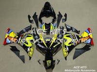 Wholesale ACE Motorcycle Fairings For YAMAHA YZF R1 Compression or Injection Bodywork astonishing black yellow No