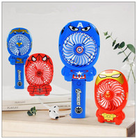Wholesale ion stock - Avengers 3 Smash Portable Fan Cartoon Hand-held Fan Micro USB Recharge with Li-ion Battery for Camping Novelty Items CCA9777 120pcs