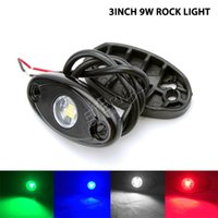 Wholesale Marine Flood Lights - 20pcs 9W LED rock light for car marine Jeep Wrangler CJ TJ YJ LJ JK Rubicon SUV pick up trucks equipment LED fog light working flood lamp