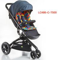 Wholesale landscape spring resale online - High Landscape Folding Baby Stroller Pram Baby Carriage Children Pushchair Wheel Trolley with Spring Shock Absorbers