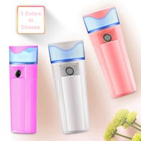 Wholesale beauty banking - 3 Colors Nano Face Water Mist Spray Facial Steamer Mister Sprayer Rechargeable Power Bank Sprayer Beauty Equipment AAA307