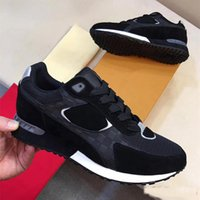 Wholesale free delivery shoes - 2018 new luxury brand men's senior leisure sports men's shoes size 38-45 free delivery