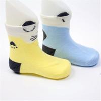 chaussettes directes d'usine achat en gros de-SUNNYKUCY Mignon Chat Fox Petites Chaussettes Enfants Coton Point colle anti-dérapant Chaussettes Usine Directe Enfants Tube En Gros