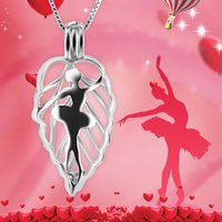 Wholesale Gifts For Ballerinas - 3pcs 925 Silver Ballerina Big Cage Pendants for Girls, Each Cage can Fit 4pcs 6-7mm Pearls