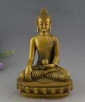 Wholesale Buddha Brass Statue - Tibet Buddhism Brass Medicine Buddha Dragon Robe Sakyamuni Statue