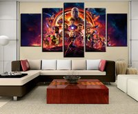 ingrosso grandi manifesti decorativi murali-Grandi Avengers Infinity War Movie Poster Poster Americano pittura su tela quadri per soggiorno wall art cuadros decorativo