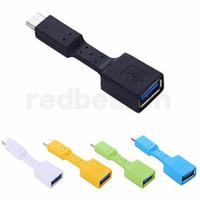 ingrosso cavo blu usb-Cavo adattatore OTG di alta qualità da micro USB / tipo C maschio a USB 3.0 femmina Convertitore trasferimento dati nero / blu / verde / bianco / giallo