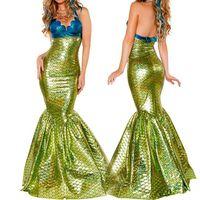 ingrosso costumi incredibili-VASHEJIANG Sexy Amazing Mermaid Tail Costume Adulto Fantasia Mermaid Princess Cosplay Deguisement Costumi di Halloween per le donne