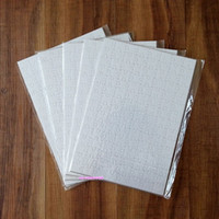 Wholesale art heat resale online - New A4 Sublimation Blank Puzzle DIY Craft Heat Press Transfer Crafts Jigsaw Puzzle white