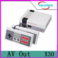 Wholesale Adult Tv Box - 30pcs Wholesale MINI Vedio Game Console Family TV Out Game Players for Child And Adult Support NES Games With Box Via DHL YX-NES-01