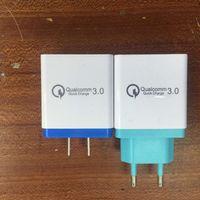 bons chargeurs portables achat en gros de-Q3.0 Quick Charger 3 Adaptateur USB US EU Plug Chargeur de charge coloré pour chargeur mural 3 ports 2.1A 2.1A 3.1A pour téléphone intelligent Téléphone portable 2018
