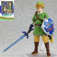 zelda skyward schwert großhandel-Link Zelda Legende Von Zelda Figur Skyward Schwert Action-figuren Anime Pvc Brinquedos Sammlung Modell Spielzeug Y6082