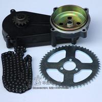 pièces de moteur de vtt achat en gros de-49cc poche vélo liya boîte de vitesses avant transmission boîte de vitesses mini moteur atv partie moteur 2 temps avec T8F chaîne et plaque 140MM