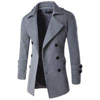 зимняя шерстяная одежда оптовых-2018 Autumn Winter Jacket Men Peacoat Mens Jackets And Coats  Clothing Male Chaqueta Hombre Wool & Blends Men M-XXL