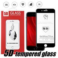 iphone tam kapakları toptan satış-Iphone X XS Max XR 8 8 Artı Tam Kapak Temperli Cam 5D Kavisli Tam Tutkal Ekran Koruyucu Kenar Pakcage ile Kenar