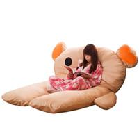 Wholesale anime mattress online - super cartoon Rilakkuma sleeping bag plush mattress tatami sofa bed cute creative anime bear bed floor mat x150cm DY50468
