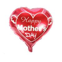 kalp şeklinde folyo balonları toptan satış-Baba ve anne Aşk kalp şekli balonlar mutlu anneler günü Alüminyum Folyo balon anne festivali globol balonlar