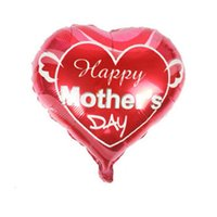 coração em forma de balões de folha venda por atacado-Pai e mãe amor coração balões de forma feliz dia das mães folha de alumínio balão mãe festival globol balões