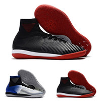 Wholesale blue mercurial superfly online - 2018 New Mens Mercurial Superfly CR7 V indoor IC Football SHOES CHEAP High Ankle Magista ACC Soccer Shoes Soccer Cleats