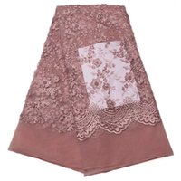 Wholesale Pink Tulle Fabric Netting - French Net Lace Latest African Lace Fabric With Embroidery Mesh Tulle Lace Fabric High quality For Nigerian Wessing GYNL0066