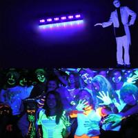 ingrosso illuminazione delle rondelle esterne-High Power 6LEDx3W Led Bar Luce nera UV viola LED Wall Washer Lampade da parete paesaggio Wash Wash per Outdoor Decorazione interna