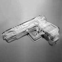 neue wasserbubbler großhandel-Neues Design Gun Smoking Rohre Glasbongs Bubbler mit Downstem Wasserrohre Dab Rig Wasserpfeifen Hand Rohr
