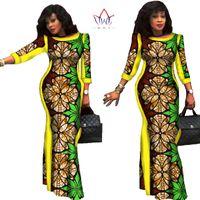 8de90eed73d BRW 2017 Autumn African Dresses for Women Party Bazin Riche Dress African  Plus Size 6xl Wax Print Dashiki Cotton Dresses WY304