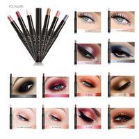 Wholesale metallic eye pencil online - FOCALLURE Metallic Eyes Makeup Liner Pen Eyeshadow Pencil Sticker Tools Easy to Wear Long Lasting