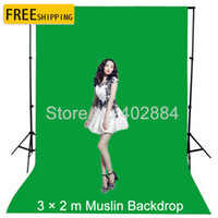 Wholesale green screen photos - 3x2M Green Screen Photography Valentine Backdrop Cotton Muslin Backgrounds for Photo Studio Chromakey Studio Photo Background