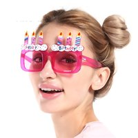 Wholesale birthday cake decorating supplies - Cake Candle Modelling Spectacles Pink Plastic Decorate Birthday Glasses Party Prop Supplies Gift Eyeglass Funny High Quality 6sf V