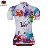 yeni açık hava bisiklet mayo toptan satış-ZM Yüksek kalite Yeni renk kadın Bisiklet Jersey Bisiklet Bisiklet Rahat Açık Bayanlar Gömlek