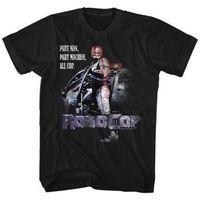 wissenschaft maschine großhandel-Robocop Science Fiction Action Film Teil Man Teil Maschine Erwachsene T Shirt Geschenk Drucken T-shirt Hip Hop T-Shirt T-Shirt NEUE ANKUNFT Tees kausalen