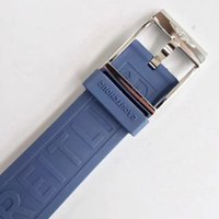 Wholesale watch strap parts - 22MM top grade Malaysia rubber made strap high class bracelet band with stainless steel buckle for B watch repair fix parts accessory