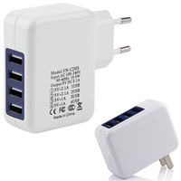 Wholesale package android charger online – 5V A High Speed USB Port Wall Charger Home Travel Charger Power Adapter For iPhone S Plus iPad Android Phone With Retail Package