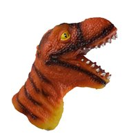 dinosaurierpuppen großhandel-Simulation Figur Dinosaurier Handpuppe Kinder Entwicklungsspielzeug Geschenk Dinosaurier Tier Hand Tiger Puppe lebendig Kinder Geschenke