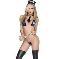 бесплатные сексуальные костюмы пиратов оптовых-Очень Заманчиво Секс Бикини Леди Без Ограничений Сексуальный Костюм Офицера