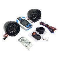 bluetooth radyo alarmı toptan satış-Su geçirmez Motosiklet Alarm Hoparlör Ses Ses Sistemi Moto Scooter Bluetooth Ses Radyo MP3 Müzik Çalar Moto Hırsızlık Koruması
