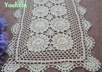 Wholesale Glass Dining Tables - HOT Lace cotton Square table place mat pad cloth handmade crochet cup mug holder dining coaster placemat glass doilies kitchen
