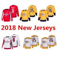 Wholesale Jersey 76 - 2018 New Season Nashville Predators Jersey 76 P.K. SUBBAN 35 Pekka Rinne Washington Capitals 8 Alex Ovechkin Hockey Jerseys