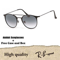 Wholesale femme mirror - Luxury Sunglasses Women Men Brand Designer Round Sun Glasses oculos Lunette De Soleil Femme de sol masculine gafas de sol mujer with cases