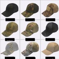 Wholesale yellow blocks resale online - Tactical Cap Camouflage Breathable Baseball Mesh Caps Hats Tactical Hip Hop Adjustable Bicycle Sun Block cap for Men Women LJJK969