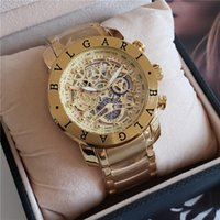 classic watches à venda venda por atacado-Venda quente de alta qualidade relógio requintado ponteiro completo trabalho 45mm relógio de moda clássico dos homens relógio famoso relógio masculino