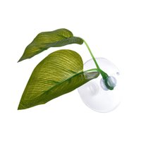 Wholesale fish rest - Artificial Plant Leaf Betta Hammock Fish Rest Bed Tropical Saltwater Fish Aquariums Supplies