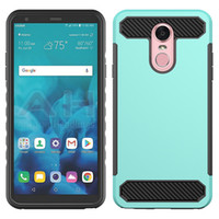 Wholesale cell phone cases for lg for sale – best Carbon Fiber Hybrid Rugged Armor Luxury Cell Phone Cases Defender PC TPU Cover For ZTE Avid Z max pro Z982