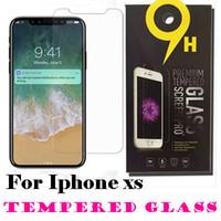 película anti shatter iphone al por mayor-Para iPhone XS Max 6.5 pulgadas XR vidrio templado iPhone X 8 Protector de pantalla para iPhone 7 7 Plus Película 0.33 mm 2.5D 9H Anti-shatter con paquete