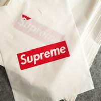 kıyafetler için plastik ambalaj çantası toptan satış-SUP Marka Alışveriş Paket Çanta Giyim Için Orta Boy 30 * 40 cm Kolay Ambalaj Hafif Plastik Torbalar Stokta